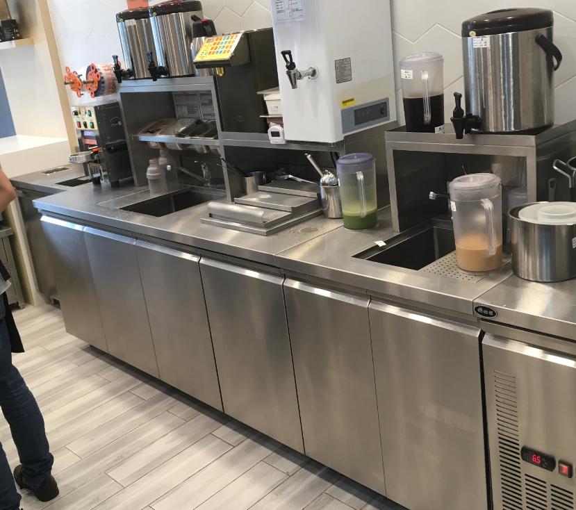 商用奶茶厨房不锈钢功能组合柜订制